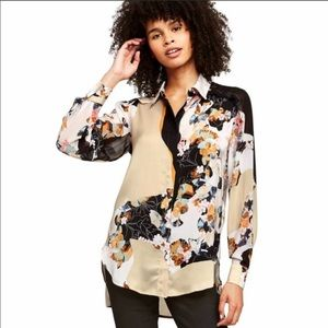 Phillip Lim Target Black Tan Floral Button…